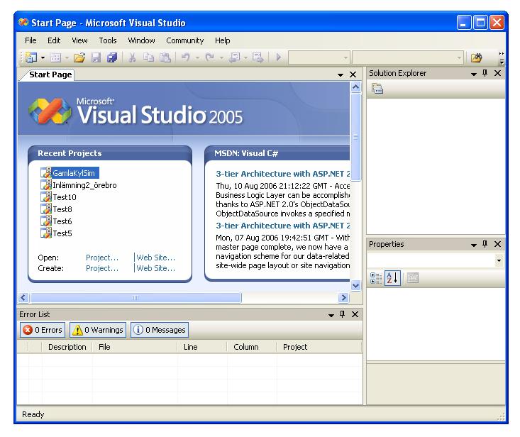 знакомство с microsoft visual studio 2005